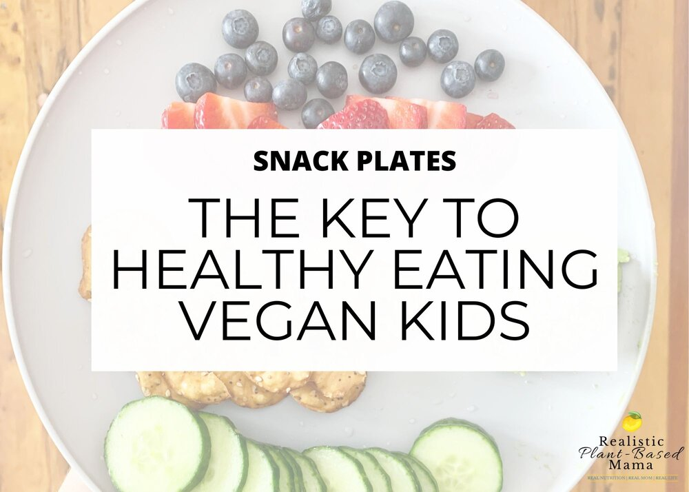 "header photo with the words ""The Key to Healthy Eating Vegan Kids"""