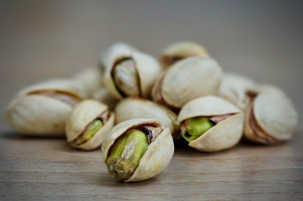 pistachio, close-up, macro